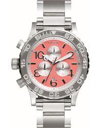 Nixon - Metallic 'the 42-20 Chrono' Watch - Lyst