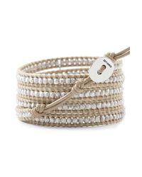 Chan Luu - Metallic Silver Bead Wrap Bracelet - Lyst