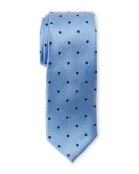 Pierre Cardin - Blue Silk Polka Dot Slim Tie for Men - Lyst