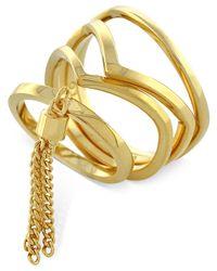 Vince Camuto   Metallic Gold-tone Tassel 4-piece Ring Set   Lyst