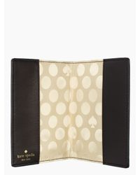 kate spade new york - Black Cedar Street Dot Passport Holder - Lyst