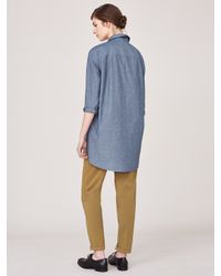 Toast - Blue Chambray Men's Style Shirt - Lyst