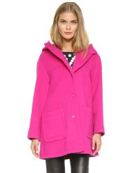 Boutique Moschino - Long Coat - Pink - Lyst