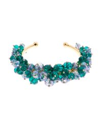 Ted Baker | Blue Janette Bead Cluster Cuff | Lyst