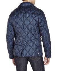 Colmar - Blue Pinstriped Blazer Down Jacket for Men - Lyst