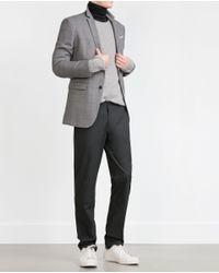 Zara | Gray Straight-cut Trousers for Men | Lyst