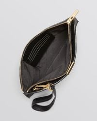 Burberry - Black Wristlet Heritage Grain Embossed Check Brooke - Lyst