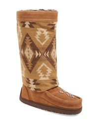 Manitobah Mukluks | Brown Wool and Leather Mid-Calf Boots | Lyst