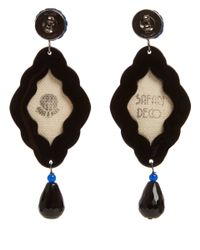 Anna E Alex - Brown Elephant Safari Deco Wooden Earrings - Lyst