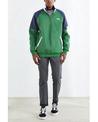 Stussy | Green Half-zip Funnel Neck Sweatshirt for Men | Lyst
