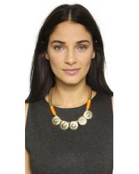 Holst + Lee - Brown Sun God Necklace - Gold - Lyst