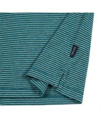Paul Smith - Blue Men's Teal Tonal-stripe Cotton Polo Shirt for Men - Lyst