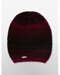 Calvin Klein | Red White Label Marled Knit Beanie | Lyst