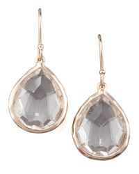 Ippolita | Metallic Rose Mini Teardrop Earrings | Lyst