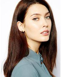 Karen Millen | Metallic Pyramid Stud Earring | Lyst
