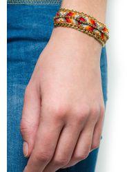 Mango - Brown Touch Crystal Friendship Bracelet - Lyst