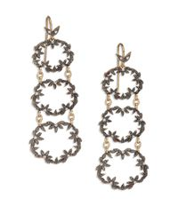 Mizuki | Diamond, 14k Yellow & 14k Blackened Gold Link Drop Earrings | Lyst