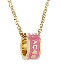 Marc By Marc Jacobs - Logo Donut Necklace - Pink - Lyst
