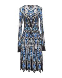 Roberto Cavalli - Blue Knee-Length Dress - Lyst
