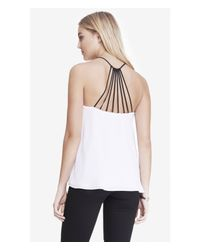 Express | White Strappy Back Cami | Lyst