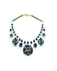 Shourouk   Blue Widow Necklace   Lyst