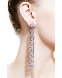 Bochic | Pink Sapphire and Diamond Long Cascade Earrings | Lyst