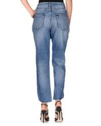 Christopher Kane - Blue Denim Trousers - Lyst