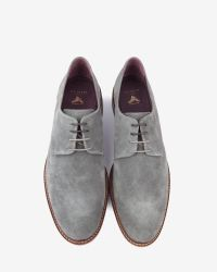 Ted Baker - Gray Classic Suede Derby Shoes for Men - Lyst