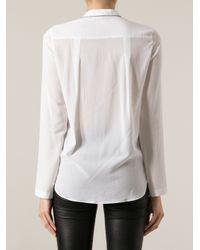 Brunello Cucinelli - White Chain Trim Collar Shirt - Lyst