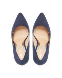 Dune - Blue Navy 'alice' Pointed Toe Court Shoes - Lyst