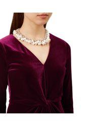 Hobbs - Metallic Silver 'bobby' Necklace - Lyst