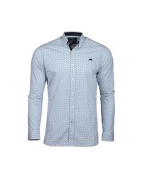Raging Bull - Big And Tall White Long Sleeve Ditzy Print Shirt for Men - Lyst