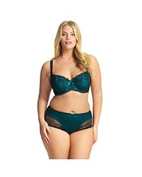 Elomi - Multicolor Dark Turquoise Cotton Blend 'anushka' Midi Knickers - Lyst