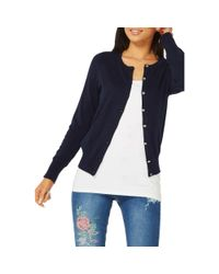 Dorothy Perkins - Blue Navy Cotton Cardigan - Lyst