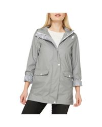 Dorothy Perkins - Gray Grey Button Front Raincoat - Lyst