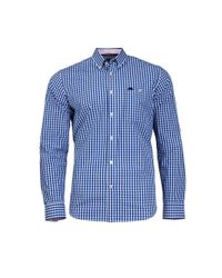 Raging Bull - Blue Gingham Cobalt Shirt for Men - Lyst
