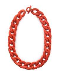Mango | Orange Xl Link Necklace | Lyst