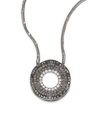 Saks Fifth Avenue - Metallic Pavà Wave Disc Necklace/hematite - Lyst