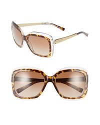 Michael Kors - Brown Collection 57mm Oversized Sunglasses - Lyst
