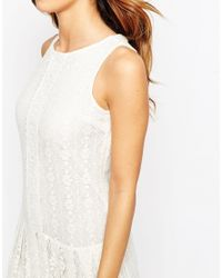 ASOS | White Petite Maxi Dress In Lace | Lyst