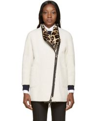 Burberry Prorsum - White Shearling And Rabbit Fur Coat - Lyst