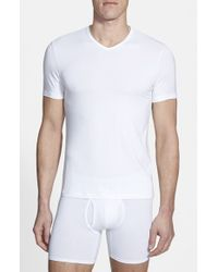 Naked | White 'luxury' Micromodal Blend V-neck T-shirt for Men | Lyst