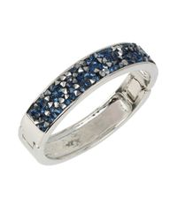 Kenneth Cole | Blue Sprinkled Stone Silver Hinged Bangle Bracelet | Lyst