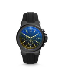 Michael Kors - Dylan Black Silicone Watch - Lyst