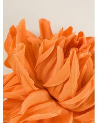 Erika Cavallini Semi Couture - Orange Flower Brooch - Lyst