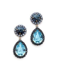 DANNIJO - Monaco Earrings Brass Oxdark Bluelight Blue - Lyst