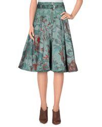 Mariagrazia Panizzi - Green Knee Length Skirt - Lyst