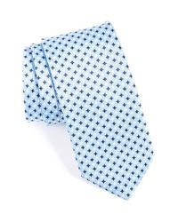 Eton of Sweden | Blue Geometric Silk Tie for Men | Lyst
