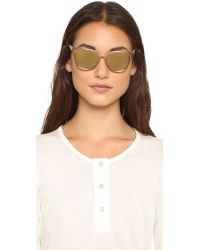 Tory Burch - Metallic Modern Flash Sunglasses - Gold/gold Flash Mirror - Lyst