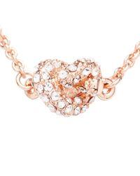 "kate spade new york - Pink Sailor's Knot Pavé Pendant Necklace, 17"" - Lyst"